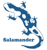 Salamander Logo and Text blue 1100 x 115