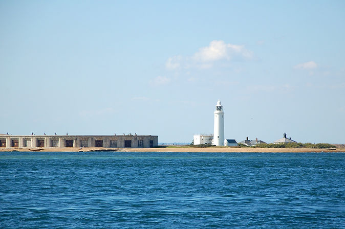 Hurst Castle and Hurst Lighthouse with The Salamander Sailing Adventure Needles Isle of Wight and Hurst Castle Boat Trip with Picnic Lunch specially prepared by multi award-winning chef Andrew Du Bourg of the Michelin recommended Elderflower Restaurant in Lymington Call or Text 07798 524111