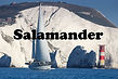 The Salamander Sailing Adventure on charter in the Solent by the Needles Isle of Wight
