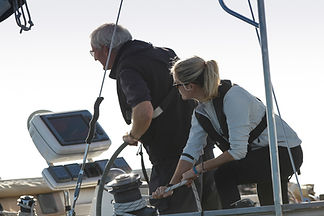 Corporate Yacht Charter - Team Building on board Salamander of Lymington with The Salamander Sailing Adventure