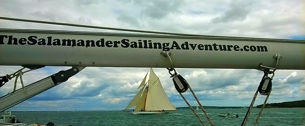 Corporate Yacht Charter - Spectator Boat - Spectating on board Salamander of Lymington in the Solent on the South Coast with The Salamander Sailing Adventure