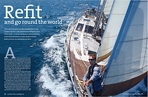 Yachting World feature article about Salamander of Lymington www.thesalamandersailingadventure.com © Julian White