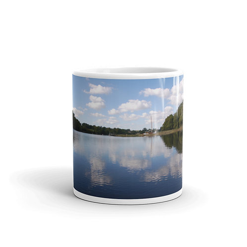 New Forest and The Sea Mug Beaulieu River and Logo green
