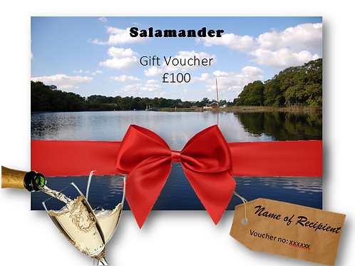 Gift Voucher £100 with a complimentary bottle of Champagne to celebrate