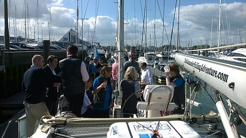 Corporate Yacht Charter - Special Events - Reception on board Salamander of Lymington with The Salamander Sailing Adventure