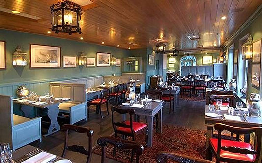 The easiest and best way get to and book a table at The Riverview Restaurant in the Master Builder's Hotel in Buckler's Hard Beaulieu is with The Salamander Sailing Adventure Beaulieu River Luxury Boat Trip Call or Text 07798 524111