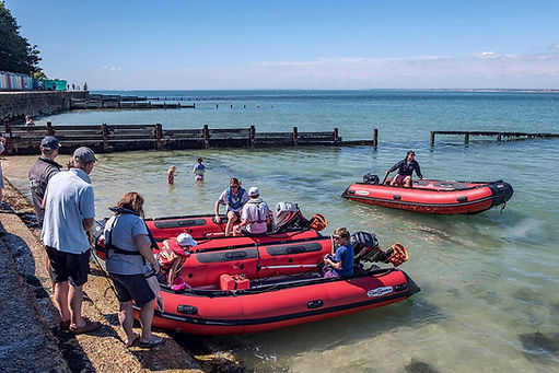 It's easy to step ashore at The Hut in Colwell Bay with the complimentary Hut RIB Ride arranged with your The Salamander Sailing Adventure Needles and The Hut Boat Trip your Official Hut Partner Call or Text 07798 524111
