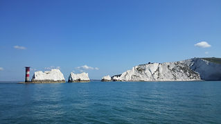 The Needles with The Salamander Sailing