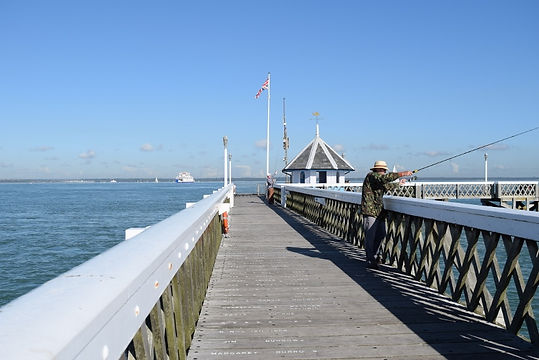 View of Yarmouth Pier Isle of Wight with