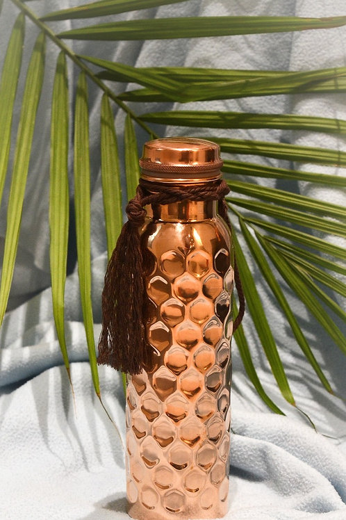 Diamond Hammered Copper Water Bottle