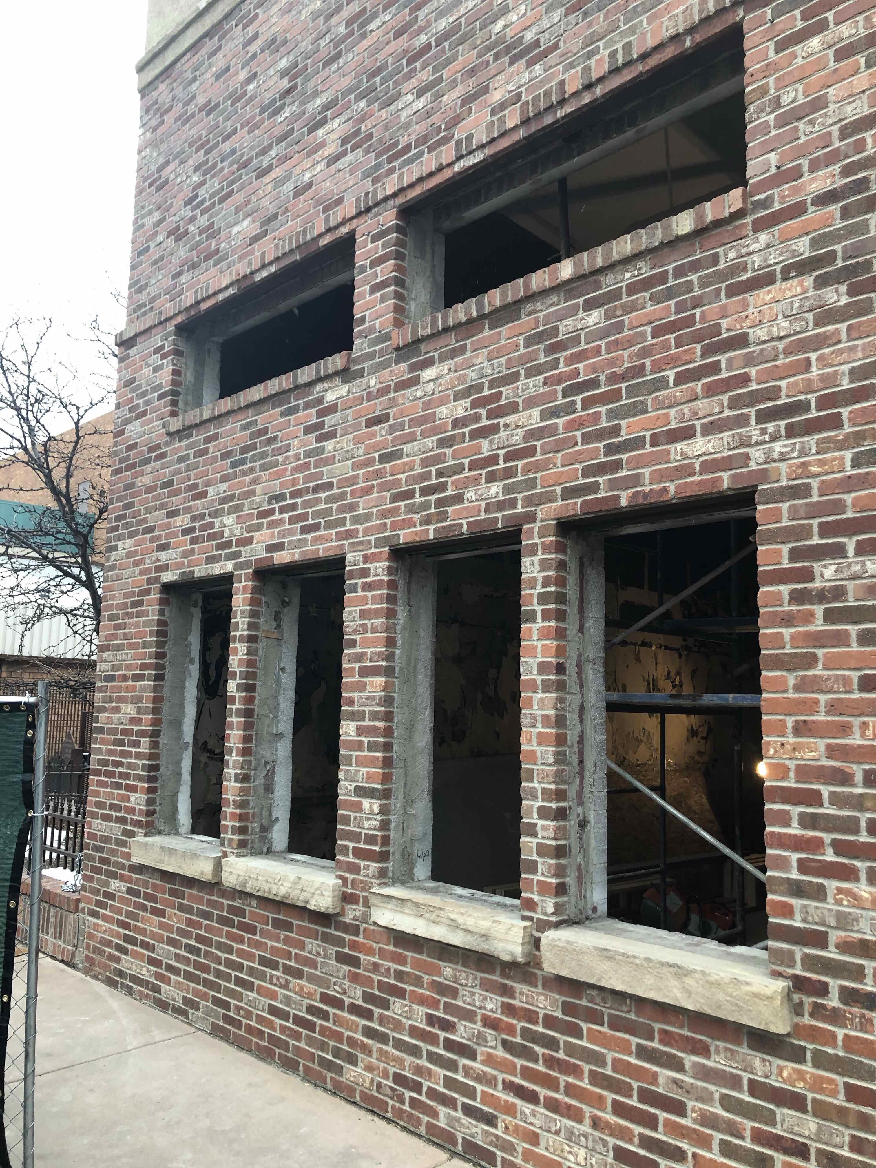 Exterior of Building Pre-New Windows