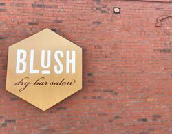 Blush exterior sign