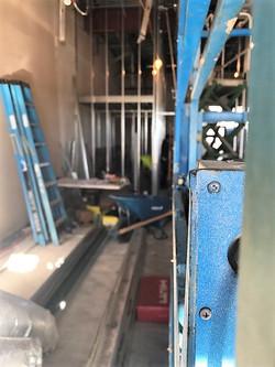Closeup of Lift and framing