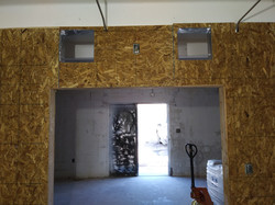 duct work in wall