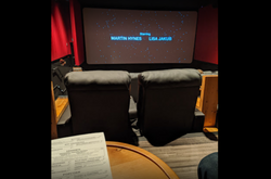 Theater screen and seats