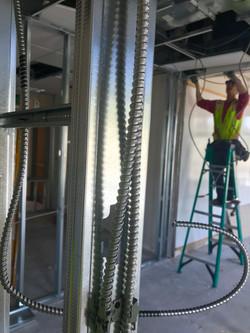 installing conduit in studs
