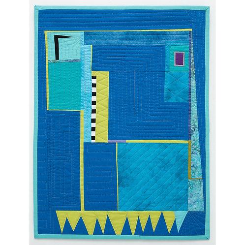 Cool Blue Art Quilt