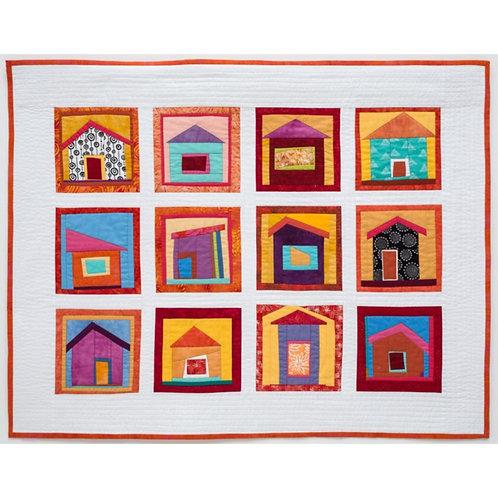 Tiny Houses Art Quilt