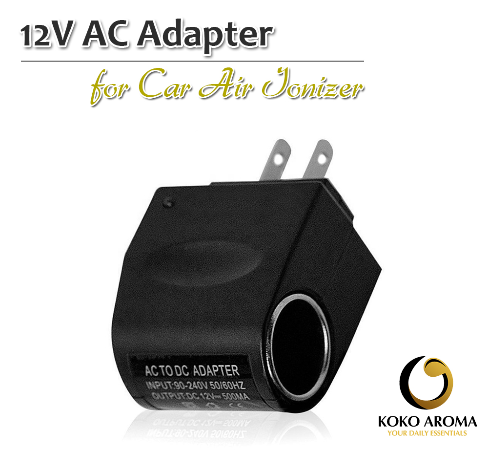 12V AC Adapter for Car Ionizer