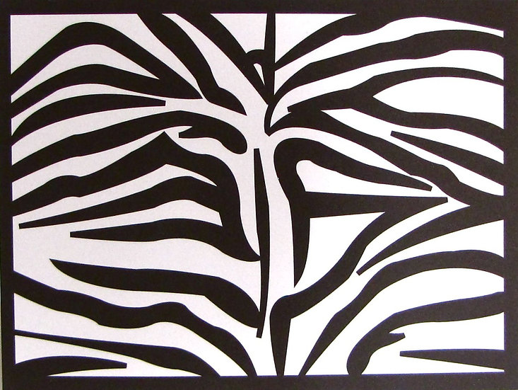 Zebra Pattern Card