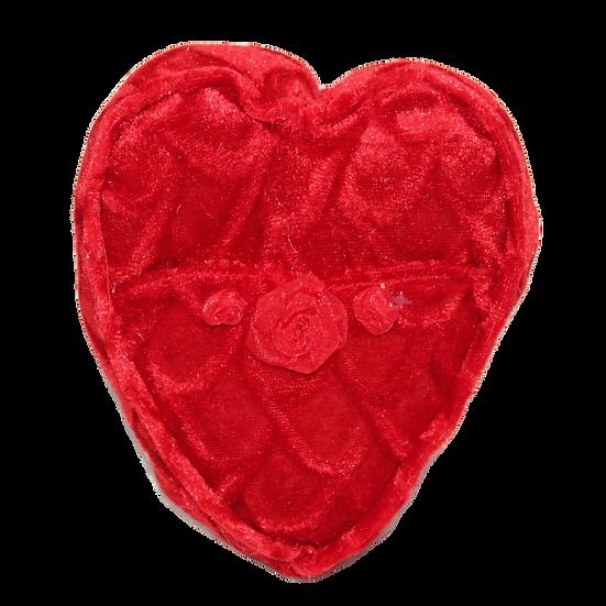 Velvet Heart Pocket Pillow