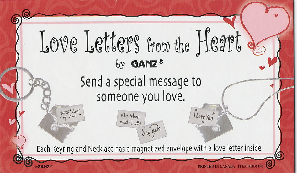 Love Letters from the Heart - Key Chain