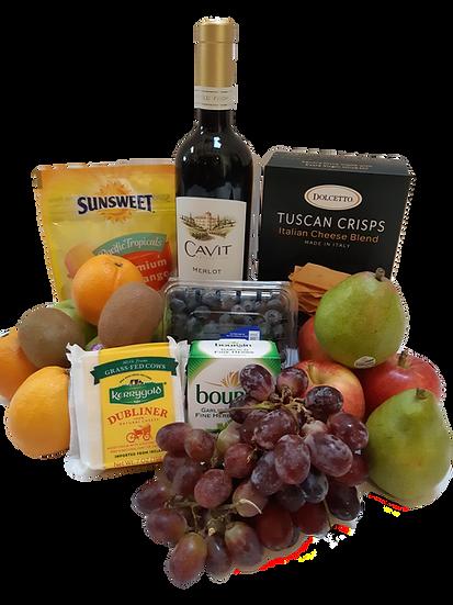Wine Fruit Cheese Basket