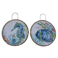 Seahorse/Fish Rope Boarder Plaque