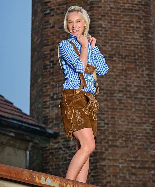 Hoamatg´füh Damen Lederhose kurz