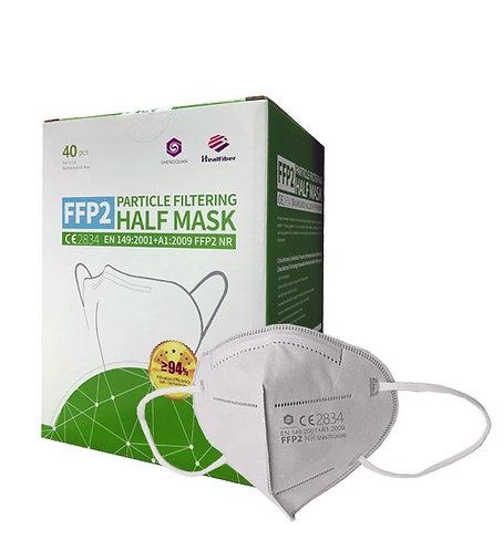 Atemschutzmaske FFP2 NR - CE - Healfiber Premium - (40 Stück)