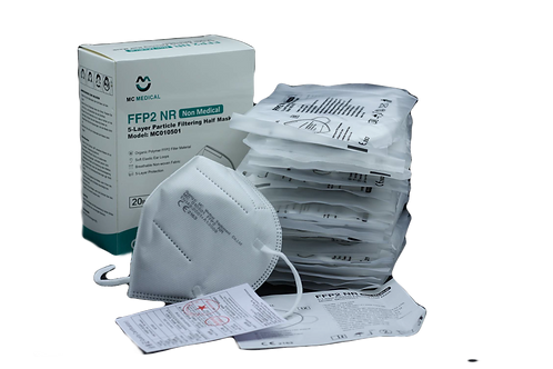 Atemschutzmaske FFP2 NR - CE - MC Medical - (20 Stück)