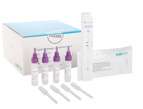 Antigen Schnelltest, Covid-19, Speicheltest, Spucktest, Joinstar, Medical United