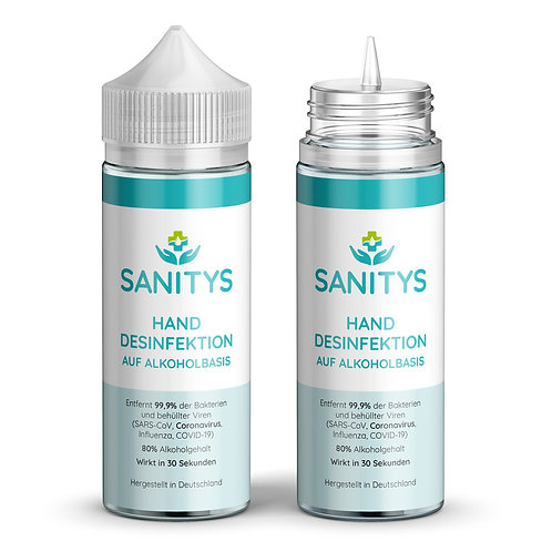 Sanitys - Handdesinfektion auf Alkoholbasis - 120ml Flasche