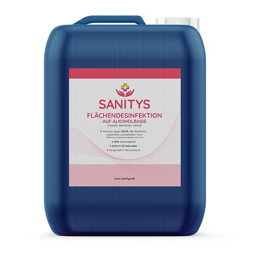 Sanitys - Flächendesinfektion auf Alkoholbasis - 5.000ml Kanister