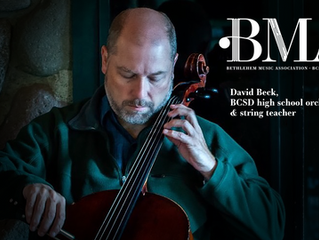 BMA's Music Teacher of the Month is David Beck.