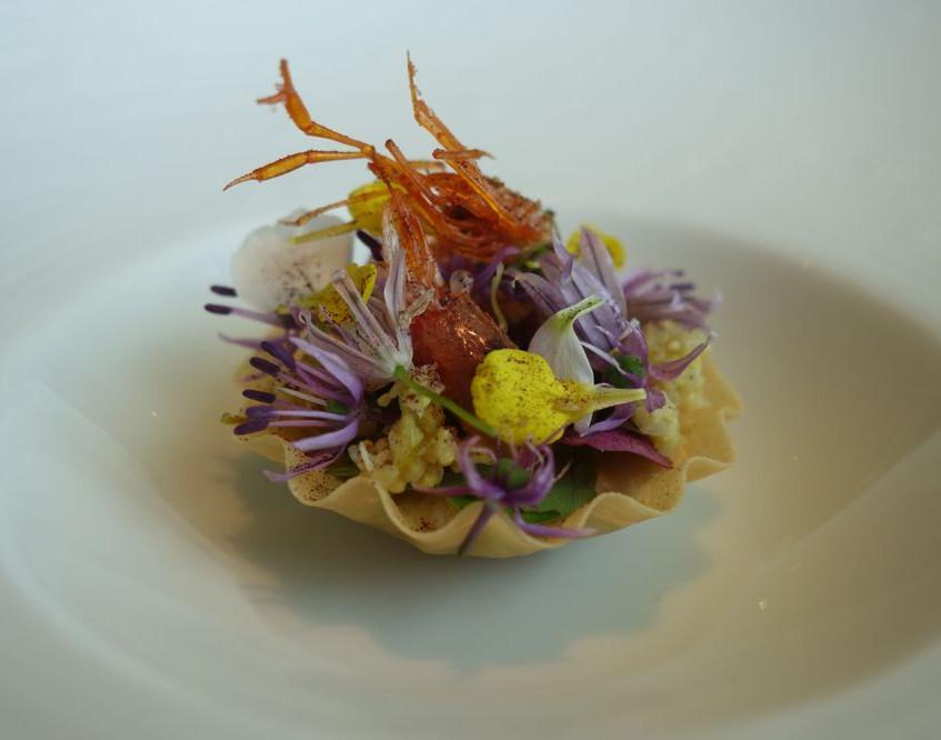 Shrimp tartlet.