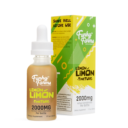 2000mg CBD Sublingual Lemon Limon Oil Funky Farms