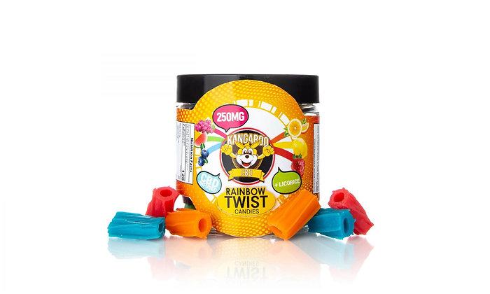 250MG Infused Rainbow Twist Candy Kangaroo