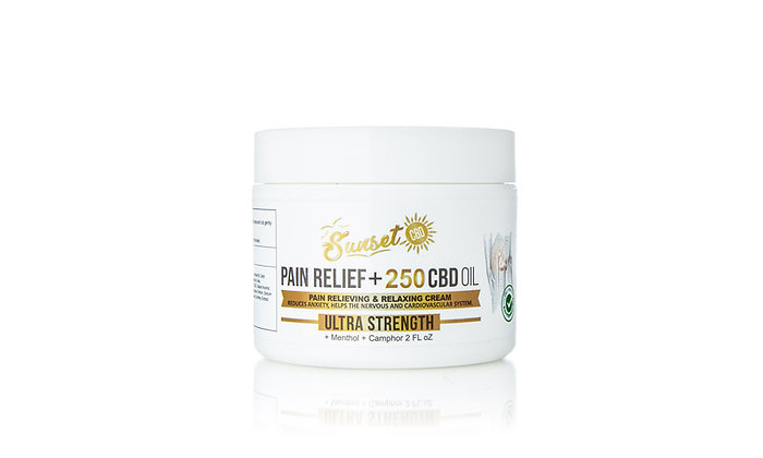 250MG CBD INFUSED PAIN RELIEF CREAM Sunset
