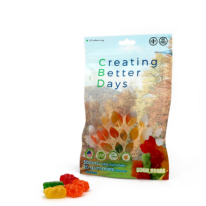 300MG Sour Gummy Bears (20 Pieces) Creating Better Days