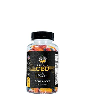 CBD Gummy Sour Packs 80pcs 1200mg Sunstate Hemp