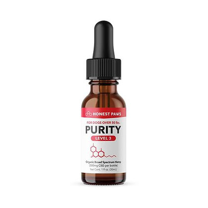 PURRITY - CBD OIL FOR DOGS Level 3 500MG Honest Paws