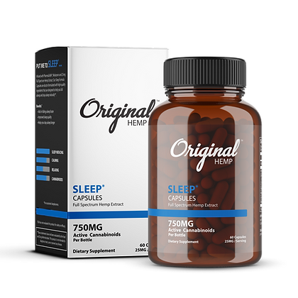 Sleep Capsules (750mg) | Full Spectrum Hemp Extract Original Hemp