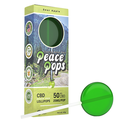 Nano-CBD Lollipop – Sour Apple 50mg (Sugar Free)