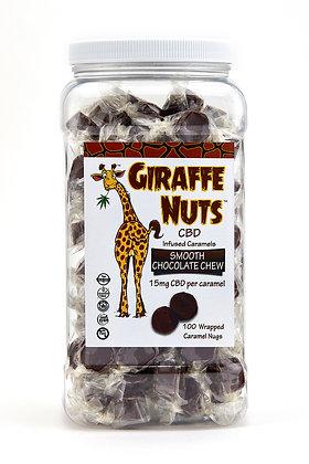 Giraffe Nuts Smooth Chocolate Chew BULK BIN - 100 Pieces - 1500mg