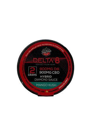 Delta-8 900mg MANGO KUSH Diamon Sauce 2G Wax Sunstate Hemp