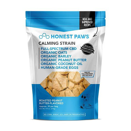 Roasted Peanut Butter Calming Bites 30 Pack Honest Paws