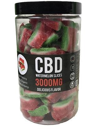 Best CBD Gummies 3000MG Watermelon Slices Strawberry Fields