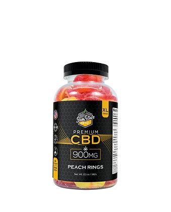 CBD Gummy Peach Rings 36pcs 900mg Sunstate Hemp