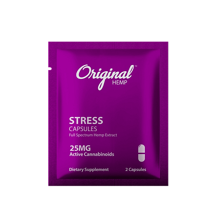 Stress Capsules (25mg) | Daily Dose Original Hemp